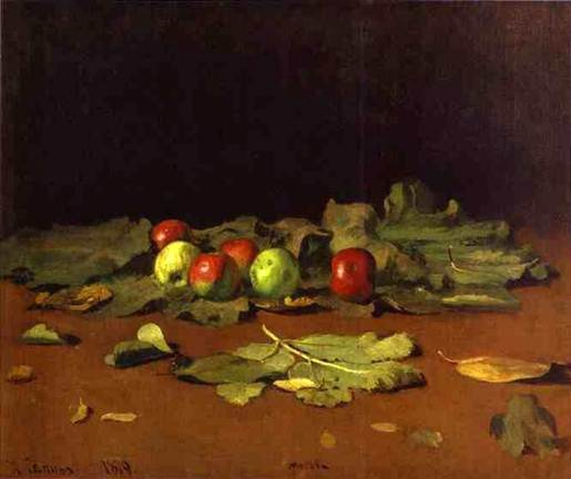 Descripción: Ilya Repin. Apples and Leaves.JPG