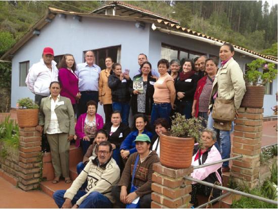 Jornada participativa de percepción con campesinos de la Fundación San Isidro, Boyacá.  Foto: G. Castaño-Reyes