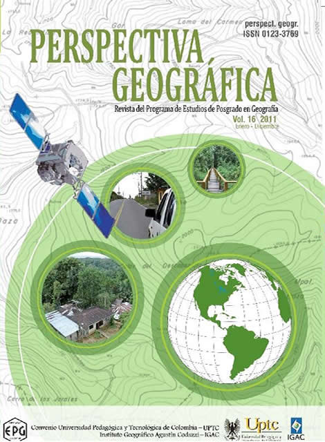 Physic-Spatial transformation of  the forested landscape of  the southern sector of  the Los Katios National Park (1989-2010)